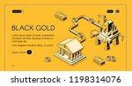 black gold vector web banner.... | Shutterstock .eps vector #1198314076