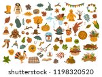 collection set  of cute drawn... | Shutterstock .eps vector #1198320520