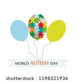 world autism day.  olorful...   Shutterstock .eps vector #1198321936
