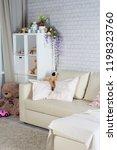 living room interior with window | Shutterstock . vector #1198323760