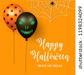 halloween background with... | Shutterstock .eps vector #1198324099