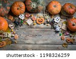 background for halloween on... | Shutterstock . vector #1198326259