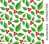 christmas elements  holly... | Shutterstock .eps vector #1198327450