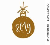merry christmas and new year... | Shutterstock .eps vector #1198332400
