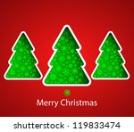 christmas background with... | Shutterstock .eps vector #119833474