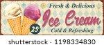 vintage ice cream metal sign.   Shutterstock .eps vector #1198334830
