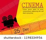 movie and film modern retro... | Shutterstock .eps vector #1198334956