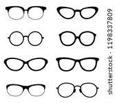 set of black sunglasses | Shutterstock .eps vector #1198337809