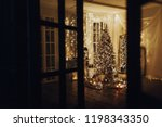 warm and cozy evening in... | Shutterstock . vector #1198343350