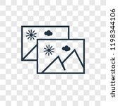 gallery vector icon isolated on ...