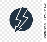 lightning vector icon isolated...