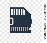 big sd card vector icon...
