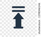 upload arrow with bar vector...