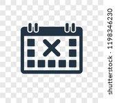 calendar with letter x vector...