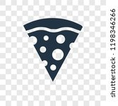 pizza piece vector icon...
