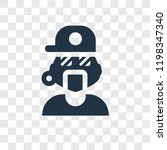 rapper vector icon isolated on... | Shutterstock .eps vector #1198347340