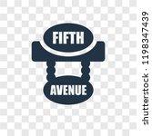 fifth avenue vector icon... | Shutterstock .eps vector #1198347439