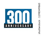 300th anniversary vector icon.... | Shutterstock .eps vector #1198349860