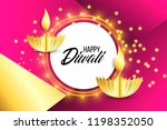 happy diwali. paper graphic of... | Shutterstock .eps vector #1198352050