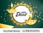 happy diwali. paper graphic of... | Shutterstock .eps vector #1198352053