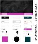 light pink vector design ui kit ...