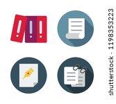 bureaucracy icon set. vector... | Shutterstock .eps vector #1198353223