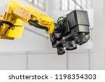3d scanner on robotic arm. | Shutterstock . vector #1198354303
