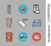 urban icon set. vector set... | Shutterstock .eps vector #1198355536