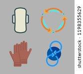 sportswear icon set. vector set ... | Shutterstock .eps vector #1198355629