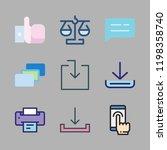finger icon set. vector set... | Shutterstock .eps vector #1198358740