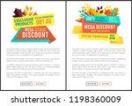 mega discount exclusive natural ... | Shutterstock .eps vector #1198360009