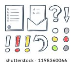 office paper and dots with... | Shutterstock .eps vector #1198360066