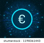 euro currency logo digital... | Shutterstock .eps vector #1198361443
