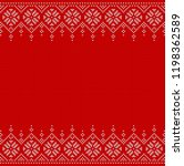 knitted seamless background... | Shutterstock .eps vector #1198362589