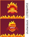best offer hot sale badge with... | Shutterstock .eps vector #1198364953