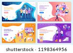 successful team collaboration... | Shutterstock .eps vector #1198364956