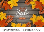 thanksgiving sale banner.... | Shutterstock .eps vector #1198367779