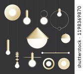 collection of modern gold... | Shutterstock .eps vector #1198369870