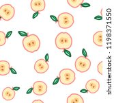 apple seamless pattern. autumn  ... | Shutterstock .eps vector #1198371550