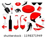 isolated vector set flat... | Shutterstock .eps vector #1198371949