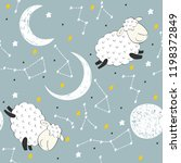seamless pattern with funny... | Shutterstock .eps vector #1198372849