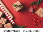 christmas background with gifts ... | Shutterstock . vector #1198372900