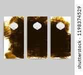set of vector business card...   Shutterstock .eps vector #1198374529