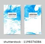 set of vector business card...   Shutterstock .eps vector #1198376086