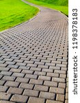 stone path in the park and... | Shutterstock . vector #1198378183