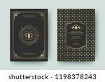 christmas greeting card design... | Shutterstock .eps vector #1198378243