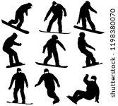 set black silhouettes... | Shutterstock .eps vector #1198380070