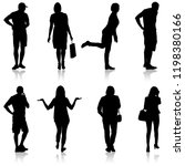 silhouette group of people... | Shutterstock .eps vector #1198380166