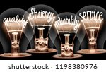 photo of light bulbs with... | Shutterstock . vector #1198380976
