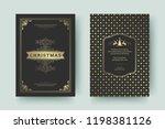 christmas greeting card design... | Shutterstock .eps vector #1198381126